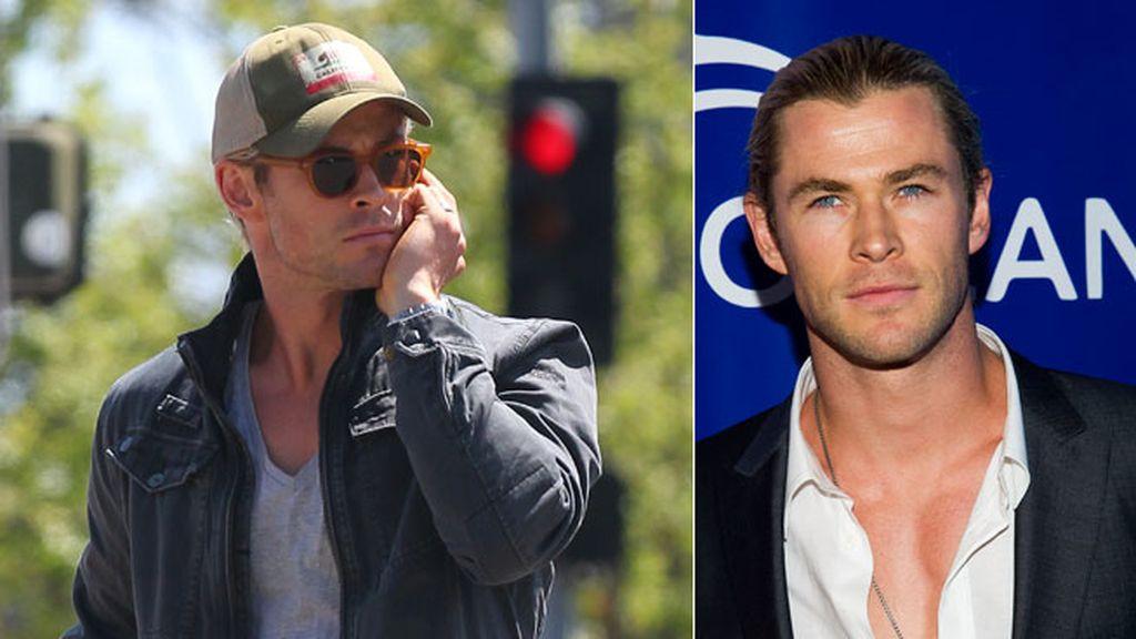 Con su melena rubia recogida, Chris Hemsworth le da siempre el toque a su estilismo