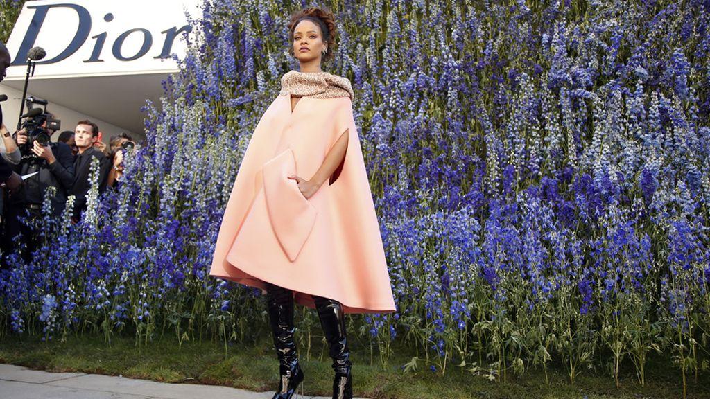 Rihanna, antes del desfile de Dior