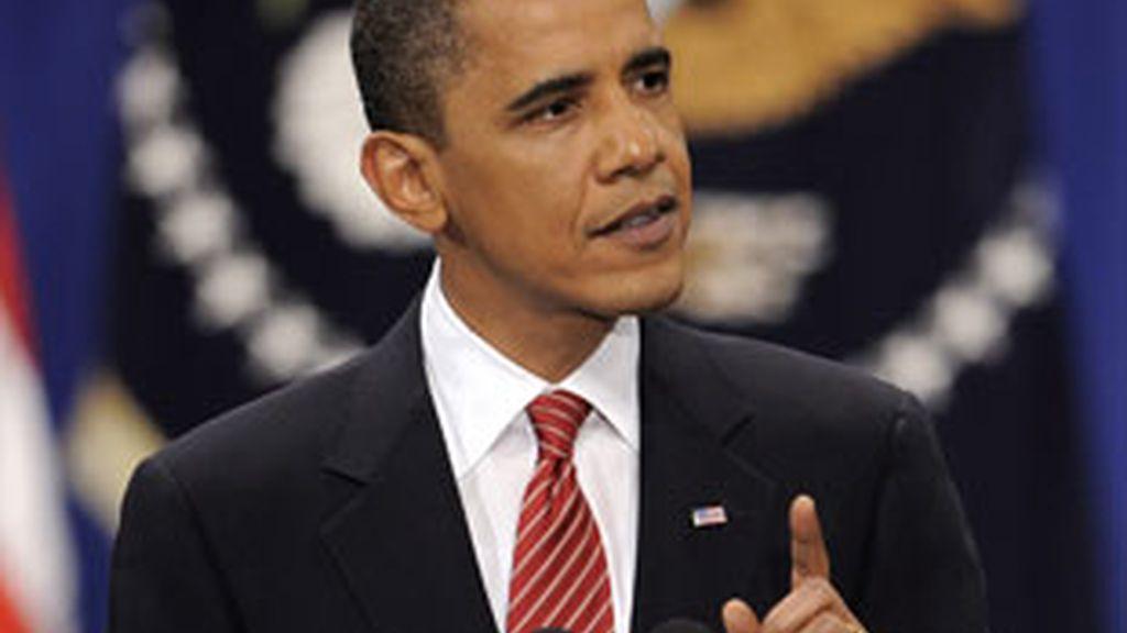 El presidente de EEUU, Barack Obama, durante su discurso en la Academia Militar de Estados Unidos en West Point, Nueva York. Foto: EFE.