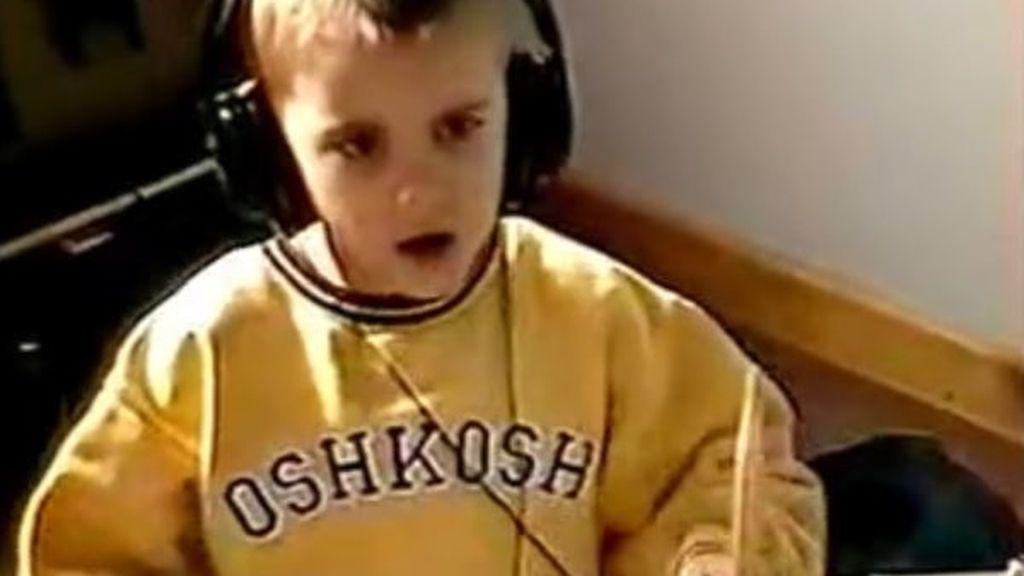 Justin Bieber, de pequeño