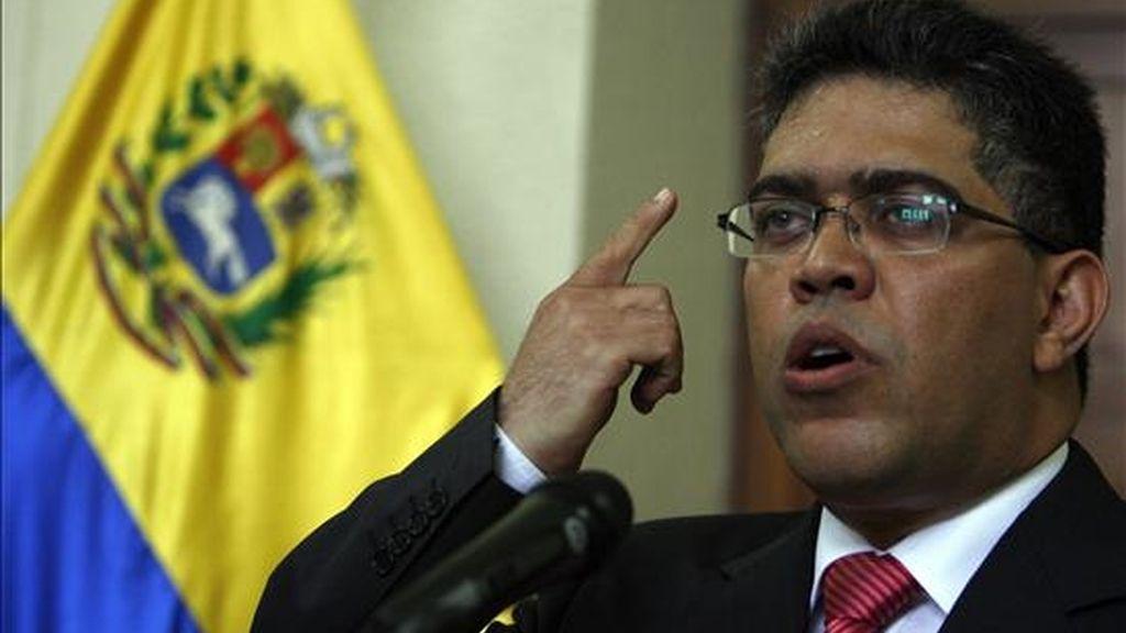 El vicepresidente venezolano, Elías Jaua, remitió el decreto-ley al Tribunal Supremo para que se pronunciara sobre la constitucionalidad de su carácter orgánico. EFE/Archivo