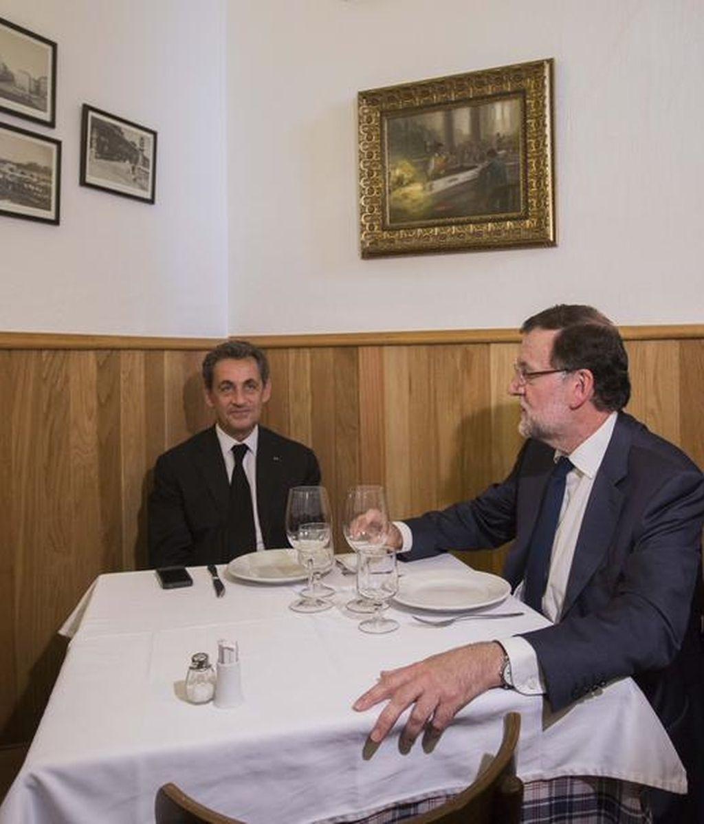 Rajoy y Sarkozy en La Tasca Suprema