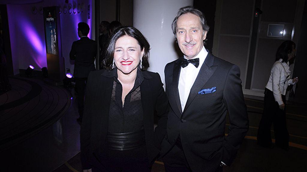 Roberto Torretta, que acudió junto a su esposa, fue uno de los diseñadores españoles invitados a celebrar el 15 aniversario de Mujer Hoy