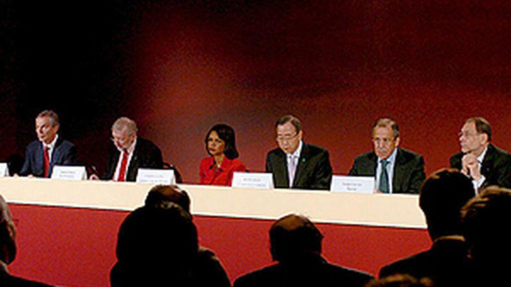 España, a través del ministro de Asuntos Exteriores, Miguel Ángel Moratinos, también ha solicitado el cese de las hostilidades. Vídeo: ATLAS.
