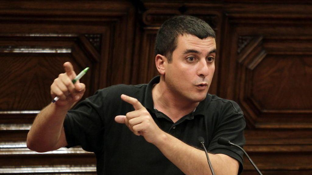 Quim Arrufat, diputado de la CUP en el Parlamento de Cataluña