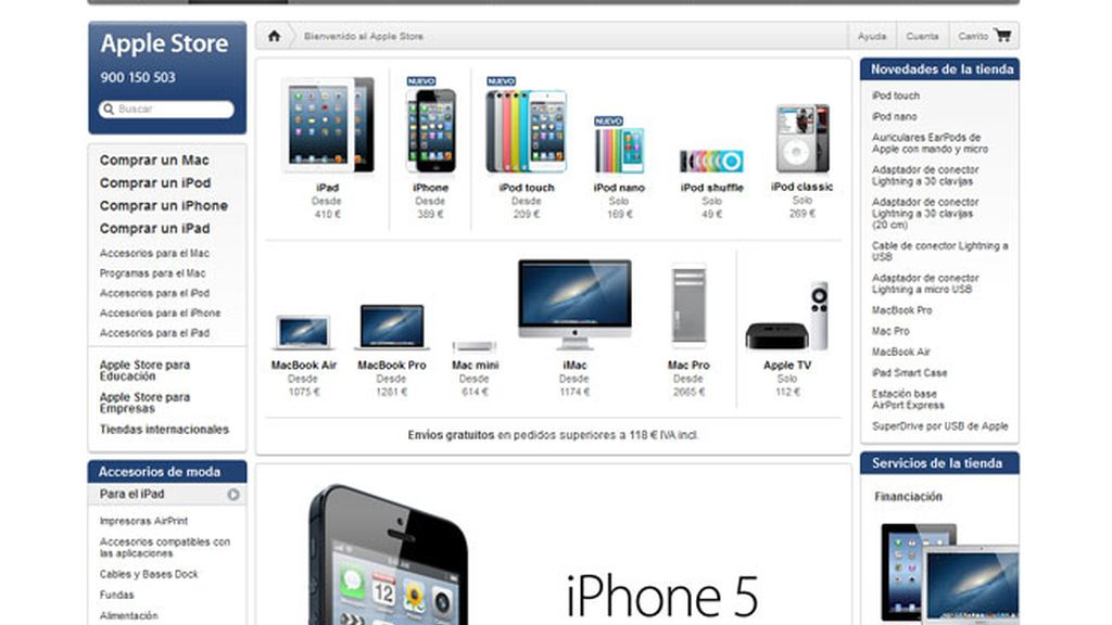apple store, tienda apple online