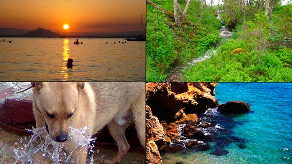 Un atardecer, un momento de paz, el borboteo del agua o una playa desierta