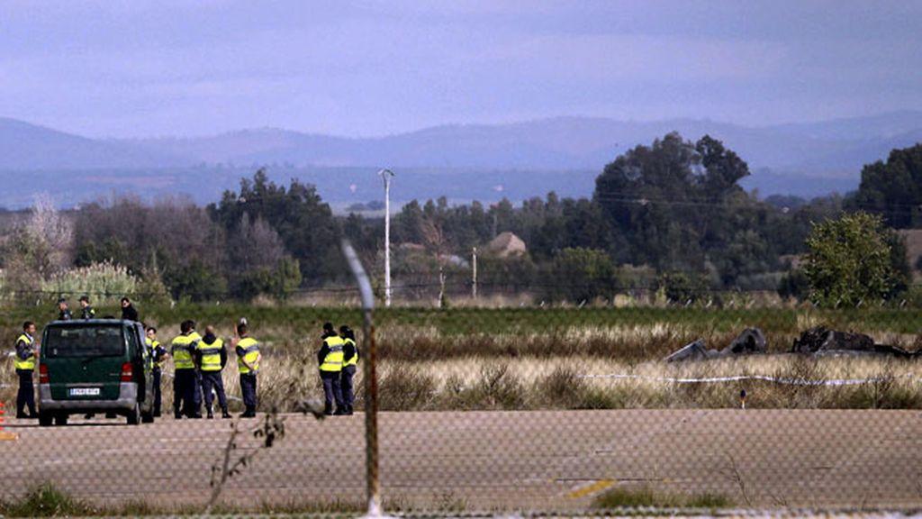 """El F-5 accidentado en Badajoz sufrió una """"parada del motor izquierdo"""""""