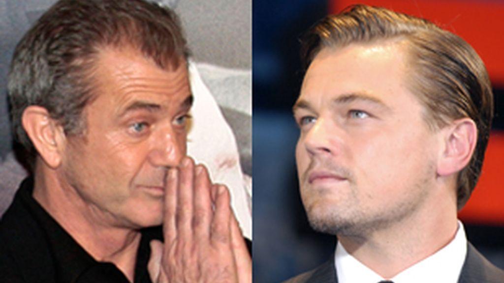 Leonardo DiCaprio rechaza trabajar con Mel Gibson. Fotos: Gtres/Archivo