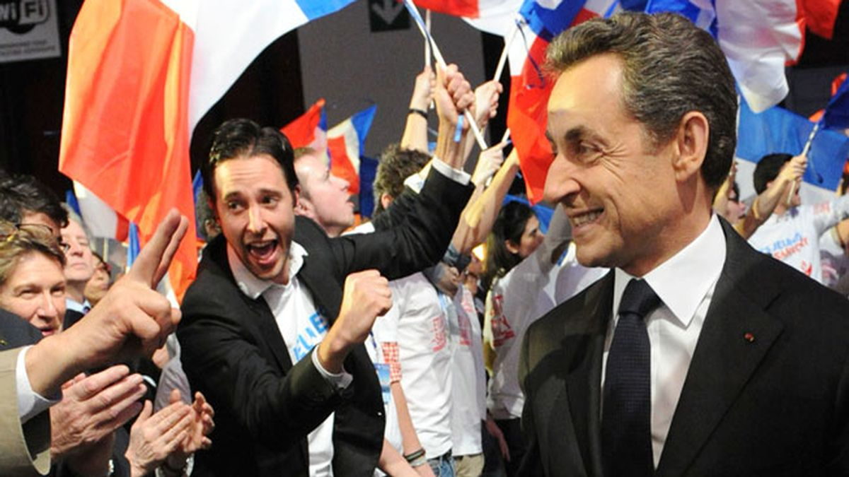 Nicolás Sarkozy, de campaña