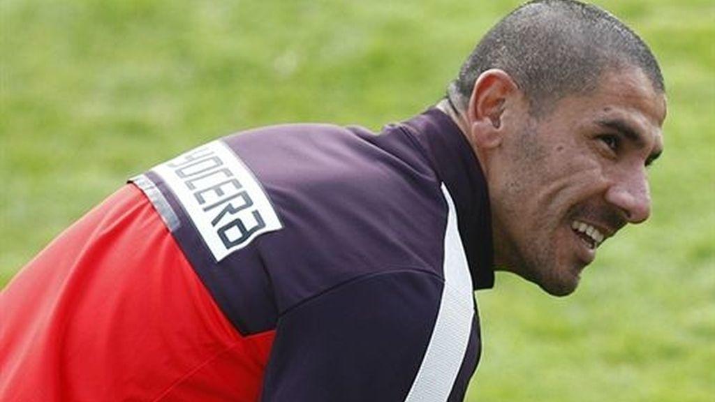 El jugador argentino del Atlético de Madrid Daniel 'Cata' Díaz