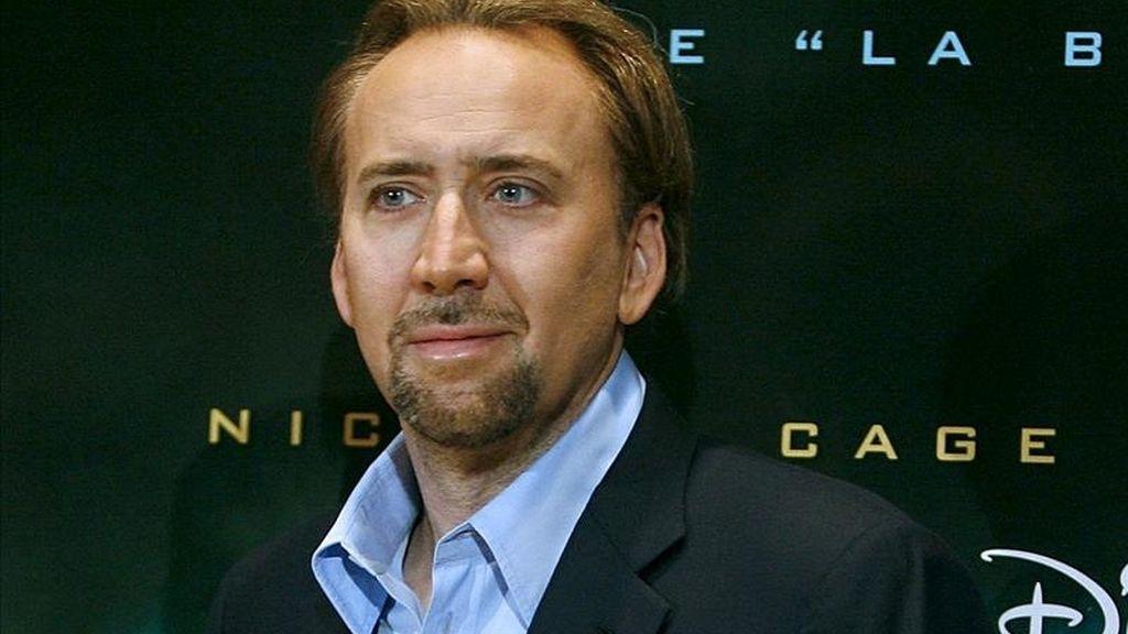 Nicolas Cage, de 47 años, fue arrestado por un cargo de abuso doméstico y un cargo de alteración del orden público. EFE/Archivo