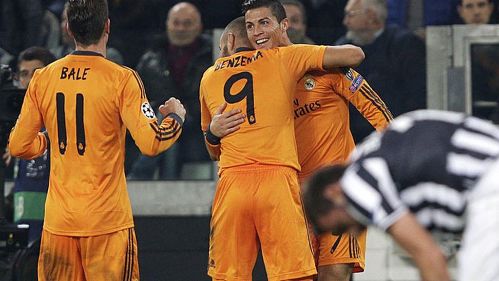 Cristiano celebra un gol en Turín