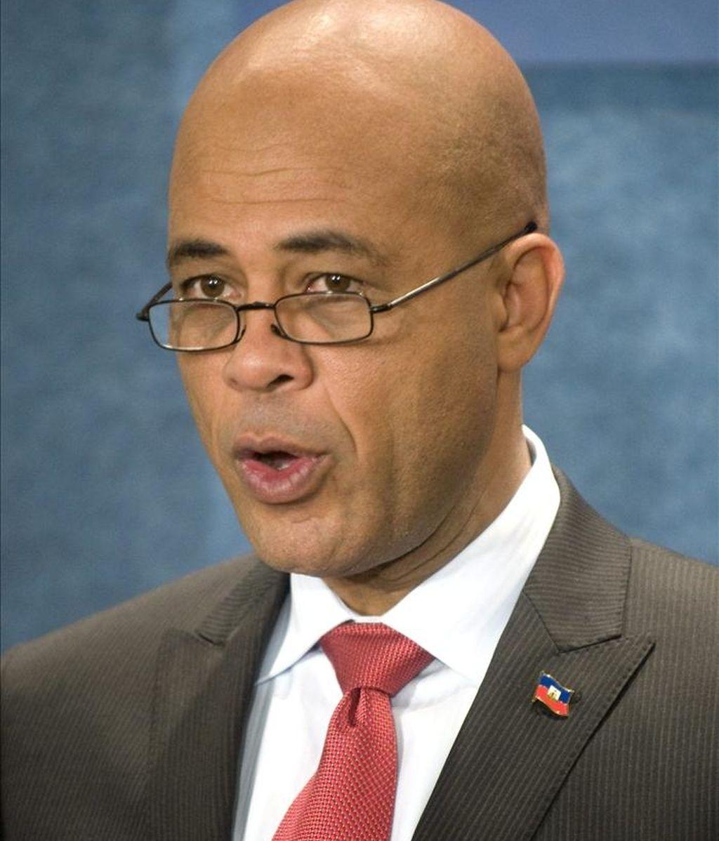 Imagen del presidente electo de Haití, el cantante Michel Martelly. EFE