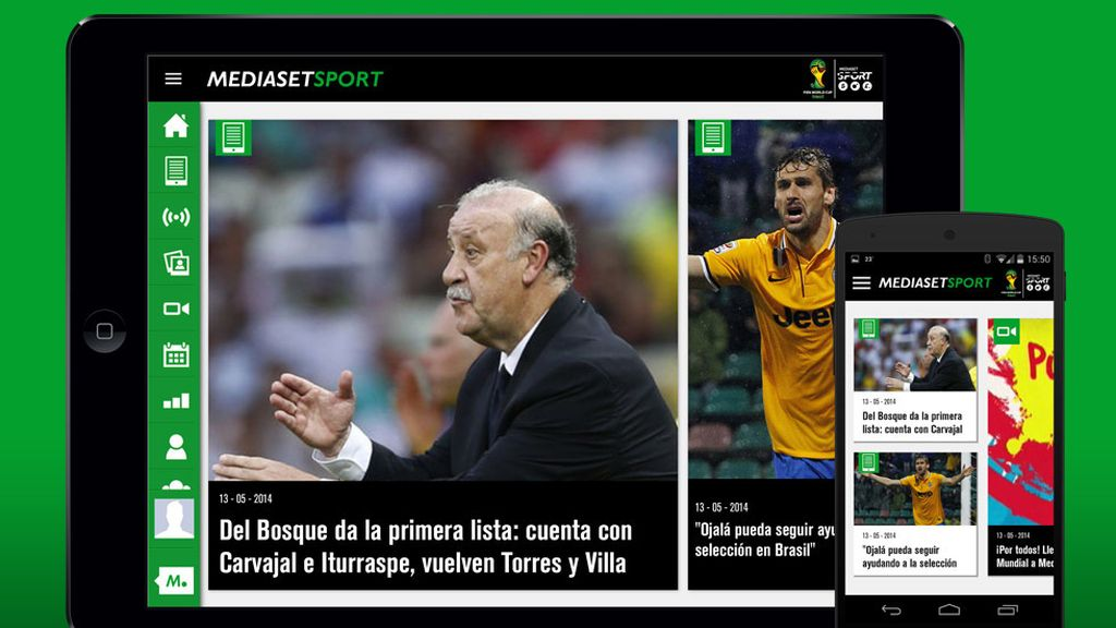 disfruta el mundial con la app de mediaset sport. Black Bedroom Furniture Sets. Home Design Ideas