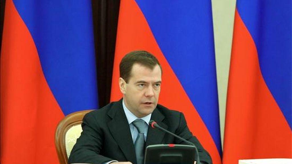 El presidente ruso, Dmitri Medvédev. EFE/Archivo