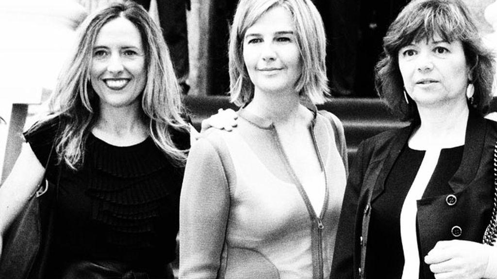 Cristina Gascón, Elena Albisu y Mirta Drago