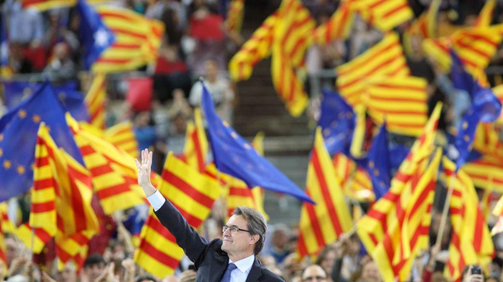 Artur Mas cierra la campaña de CiU en el Palau Sant Jordi de Barcelona