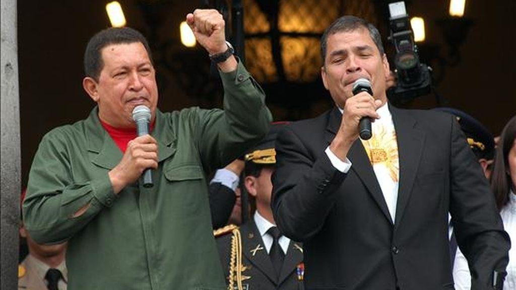 Correa extenderá su visita a Venezuela hasta el próximo martes, cuando se celebrará el VIII Encuentro presidencial Ecuador-Venezuela, en el que ambos mandatarios revisarán el avance de los acuerdos bilaterales vigentes. EFE/Archivo