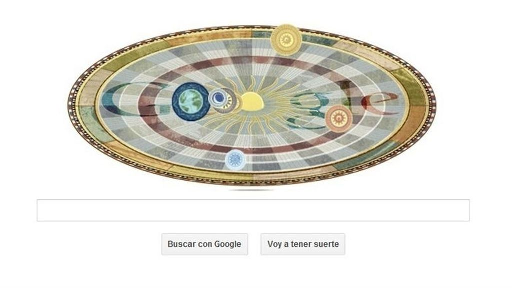 La teoría heliocéntrica de Nicolás Copérnico gira en torno a Google