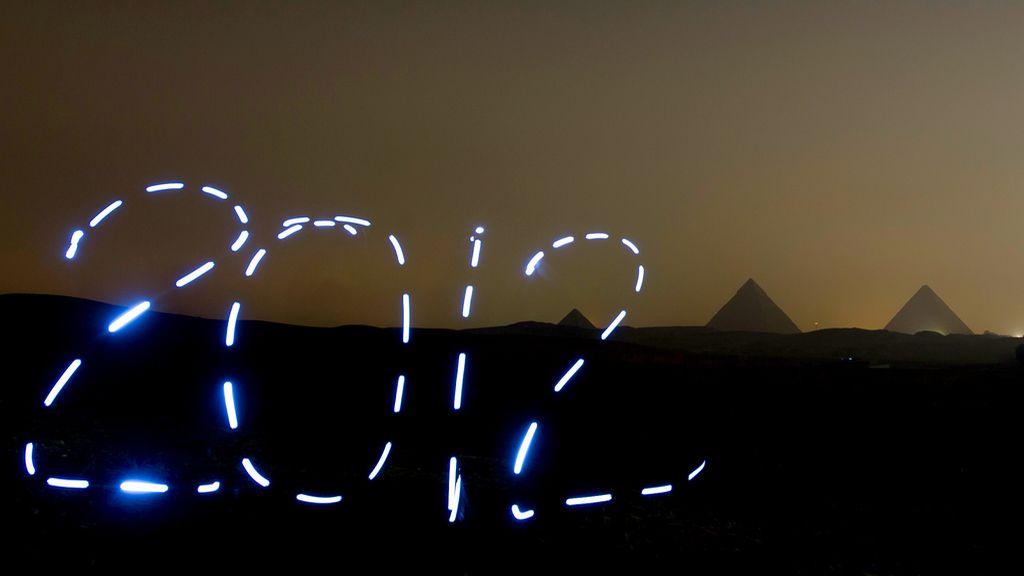 Dibujos de luz para felicitar el año nuevo