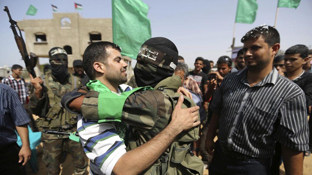 Celebraciones en Gaza por la liberación de un militante de Hamás