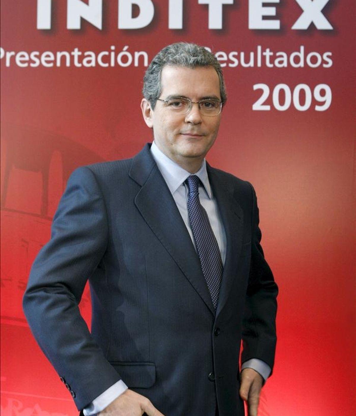 Imagen de archivo (Madrid, 17/03/2010) del actual vicepresidente y consejero delegado de Inditex, Pablo Isla, de quien el presidente y fundador de la empresa, Amancio Ortega, propondrá en la próxima junta de accionistas, que se celebrará en julio, su nombramiento como su sucesor en la presidencia de la empresa. EFE