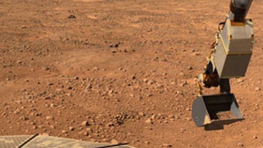 La sonda Phoenix ha investigado si hay vida inteligente en Marte. Foto de la web NASA.gov.org