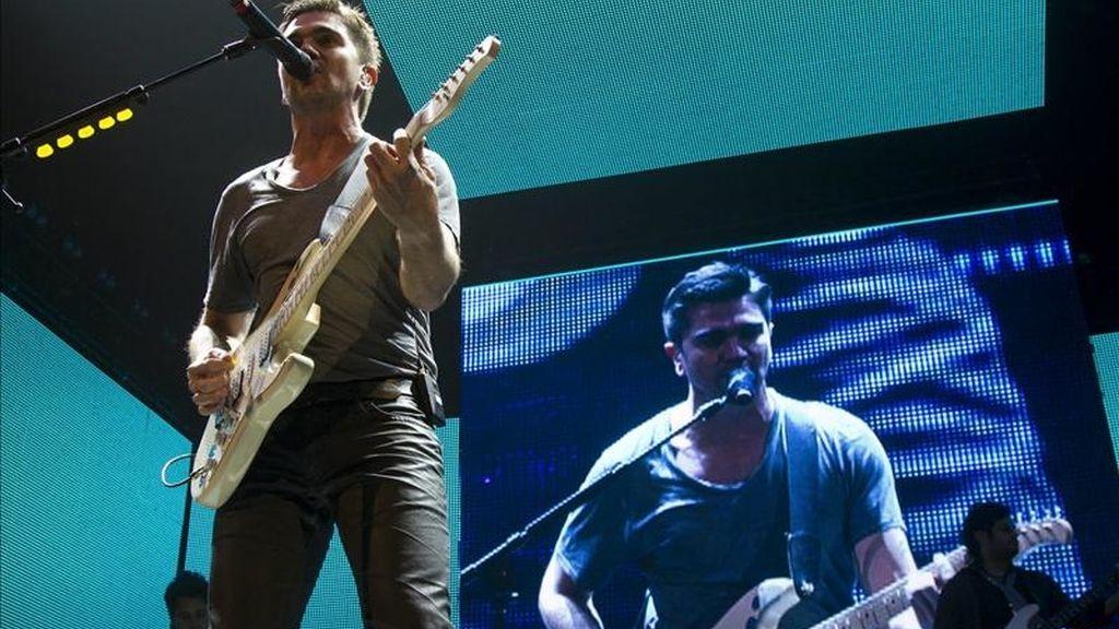 """El cantautor colombiano Juanes se presenta este viernes en el Madison Square Garden de Nueva York, durante un concierto que hace parte de la gira """"P.A.R.C.E."""", que comenzó el 10 de marzo en Estados Unidos y continuará en Europa y Latinoamérica. EFE"""