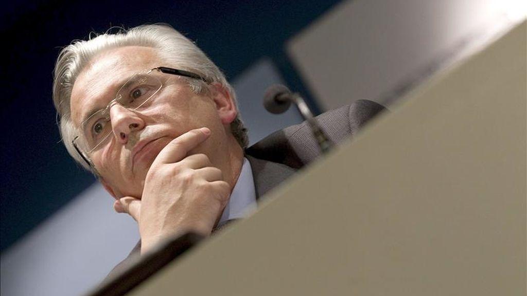 El juez de la Audiencia Nacional Baltasar Garzón durante su intervención en una conferencia sobre derechos humanos y jurisdicción universal. EFE/Archivo