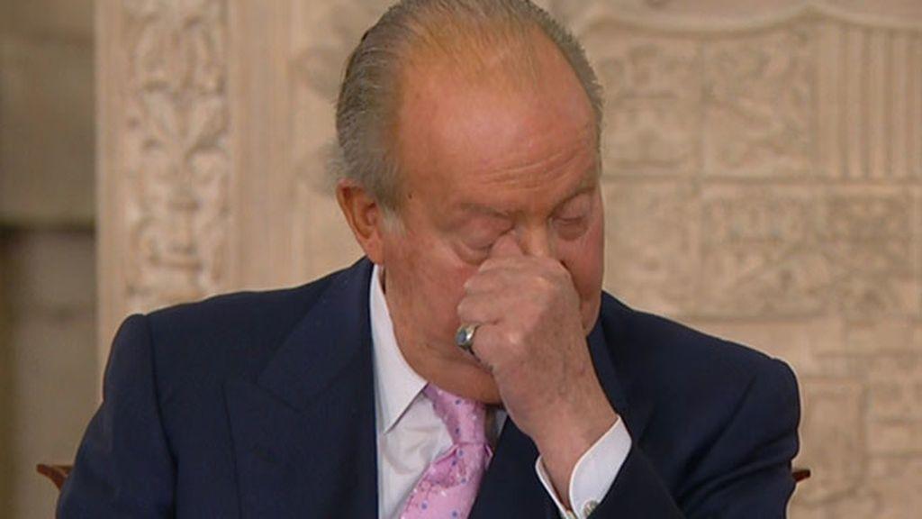 Las lágrimas de Juan Carlos I