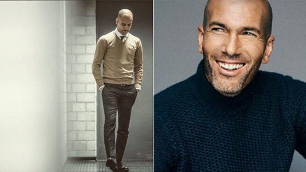 Pepe Guardiola y Zinedine Zidane: líderes calvos con un gran estilo