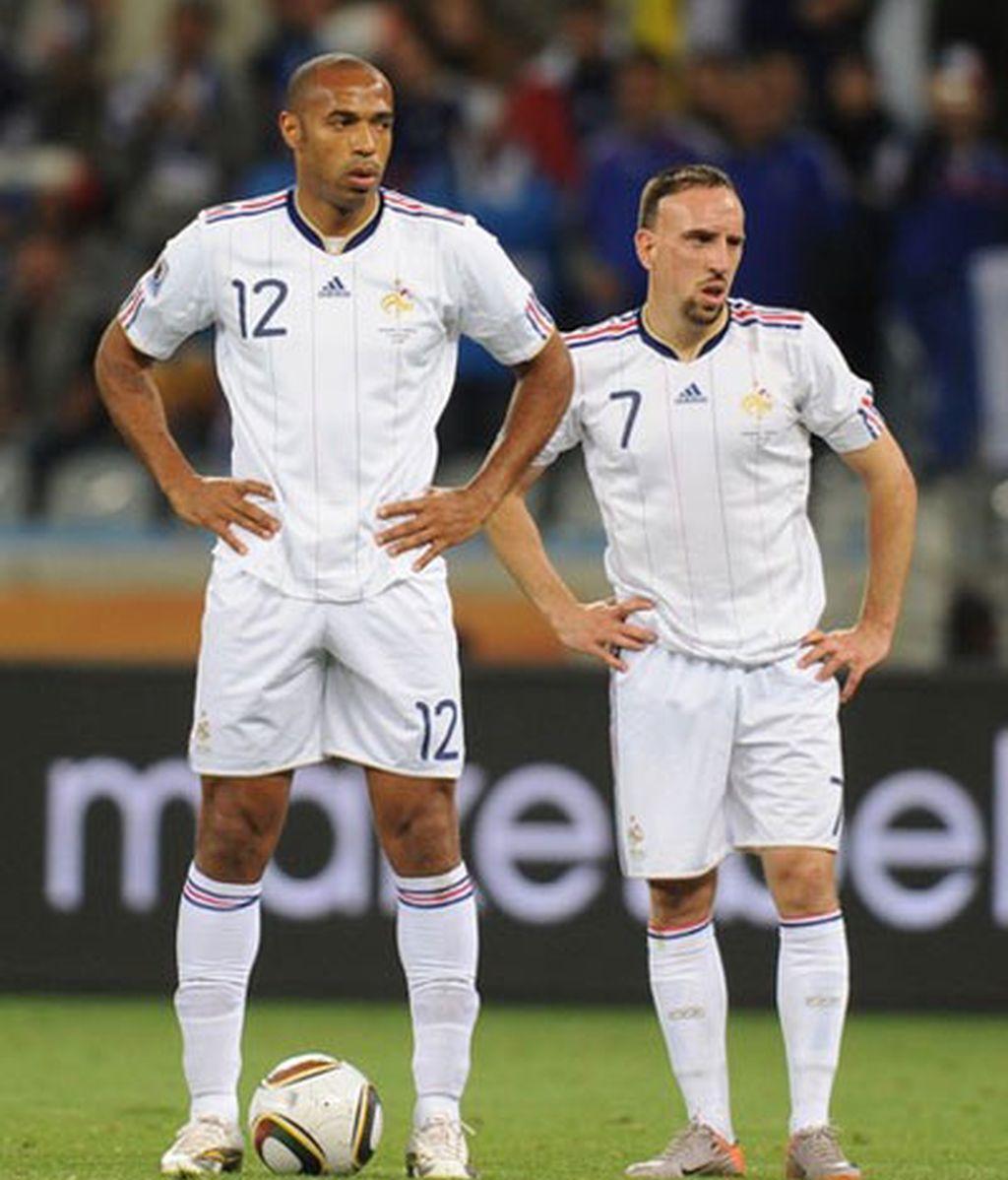 Henry y Ribery representan el declive de la selección francesa