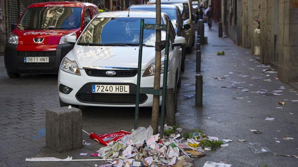 Madrid, inundada por la basura