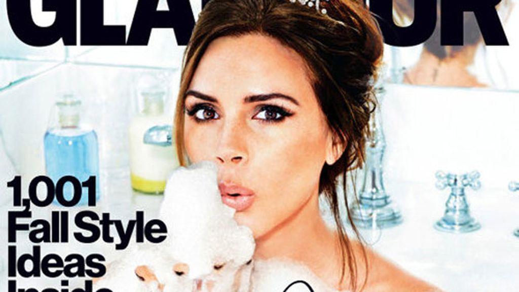 Vicky era, según el criterio de la dirección de Glamour, la única mujer que podía protagonizar el numero especial 'Full On Fashion Issue'