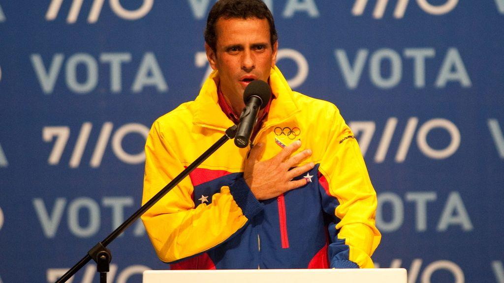 Henrique Capriles, tras perder las elecciones en Venezuela