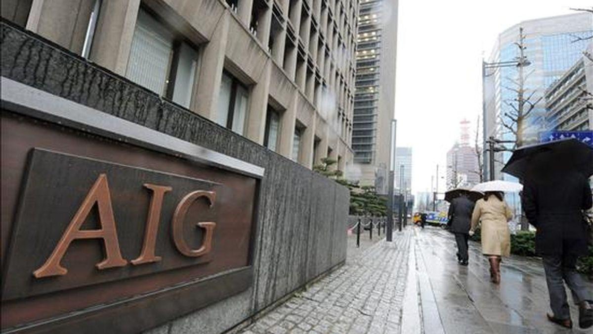 Los títulos de la aseguradora se revalorizaron hoy hasta un 3,5% en los primeros compases de la sesión bursátil en Wall Street, cuando llegaron a cambiarse a 62,87 dólares. EFE/Archivo