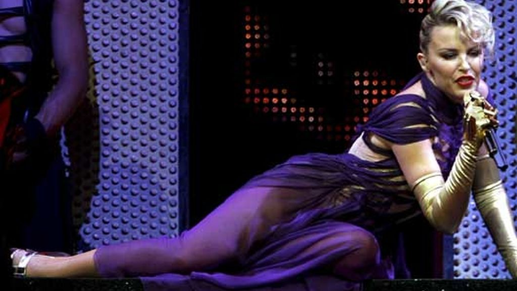 Kylie Minogue durante el concierto que dio en Zurich el pasado 25 de mayo. Foto: EFE