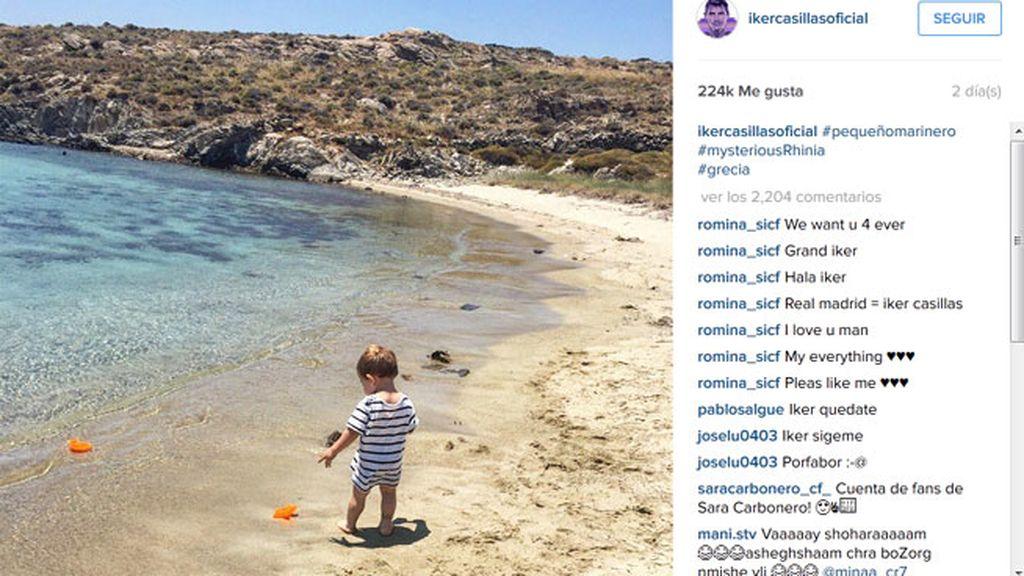 Martín Casillas, de vacaciones en Mykonos