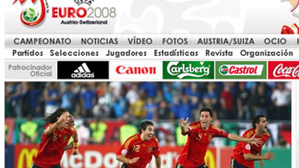La web de la Eurocopa permite ver en directo los partidos de la competición. FOTO: euro2008.uefa