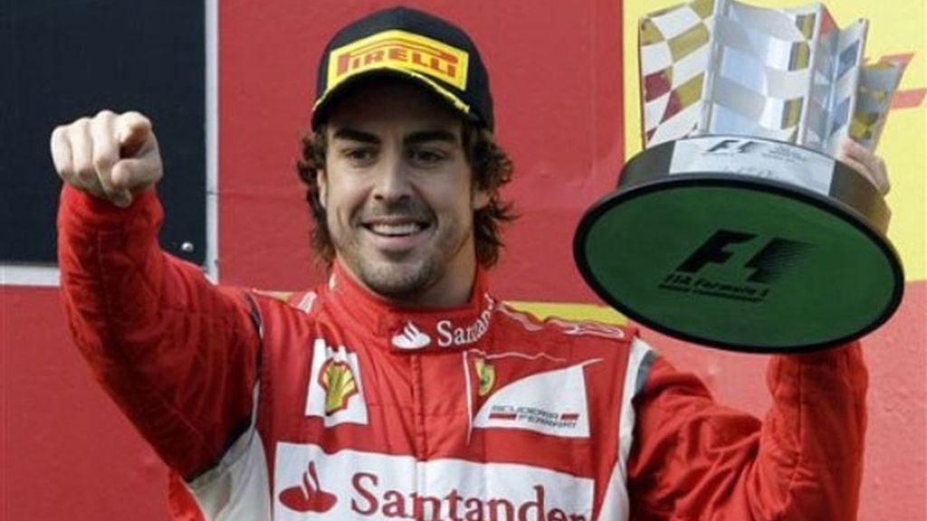 Primer podio de Alonso de la temporada