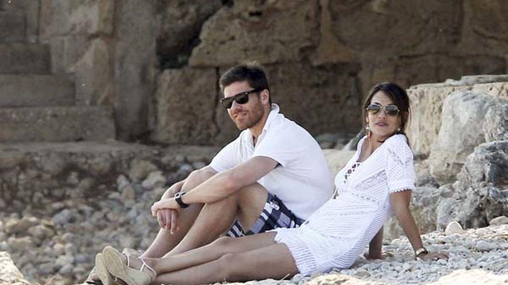 Vaciones familiares de Xabi Alonso en Mallorca