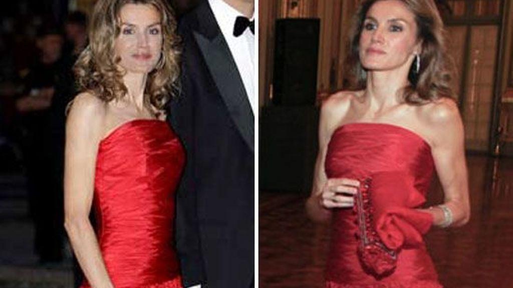 Vestido de noche rojo 'pasión'