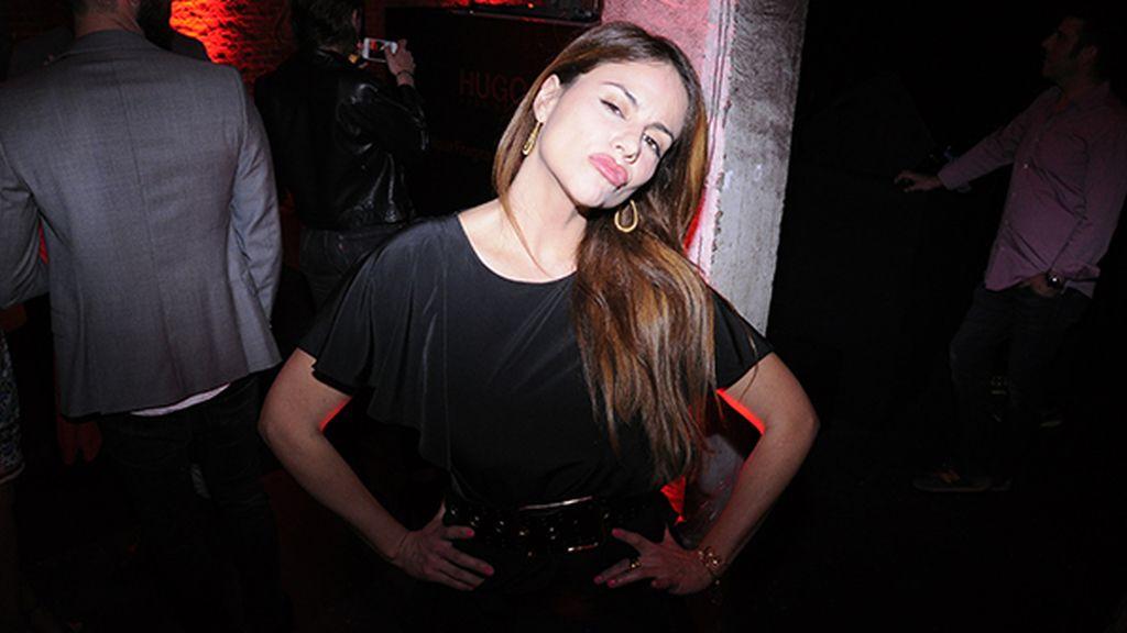 Mónica Hoyos fue otra de las celebrities que pudimos ver en la fiesta de Hugo Boss