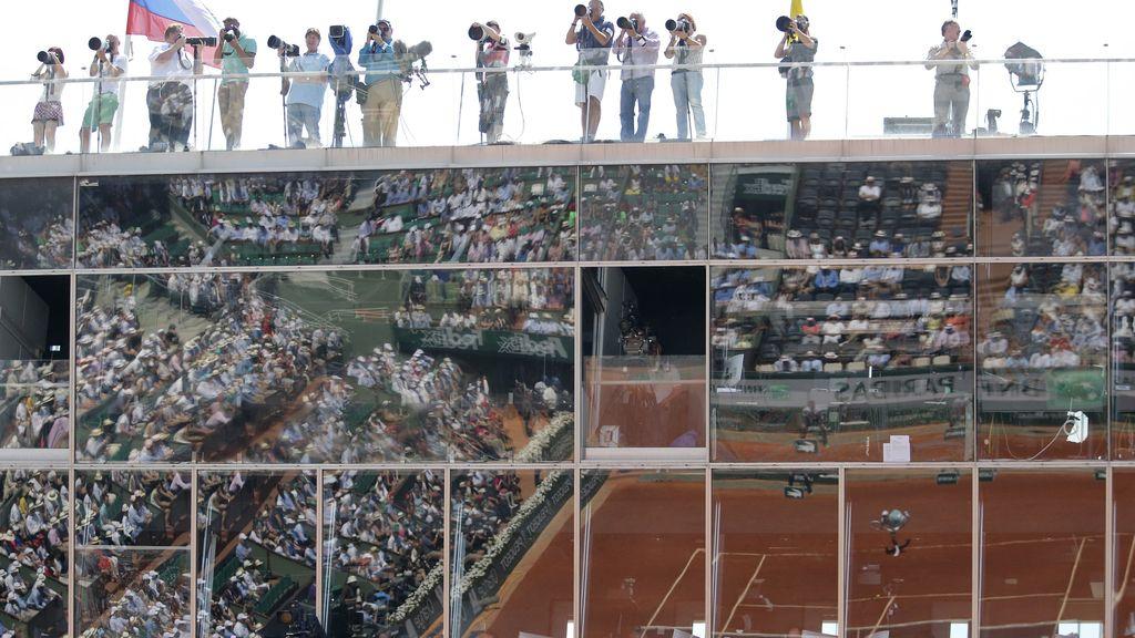 Las gradas estaban repletas para ver el partido entre Djokovic y Nadal.