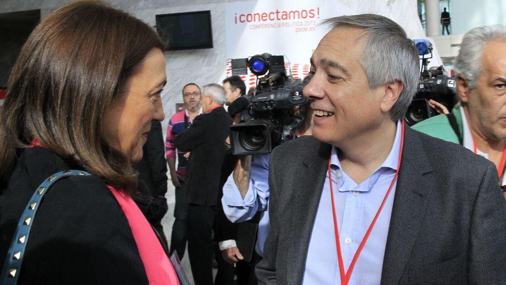 Pere Navarro con Soraya Rodríguez