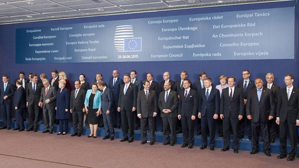 Foto de familia de la Cumbre europea