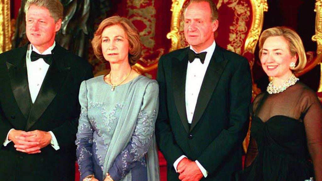 Con los Clinton en la Zarzuela en 1997