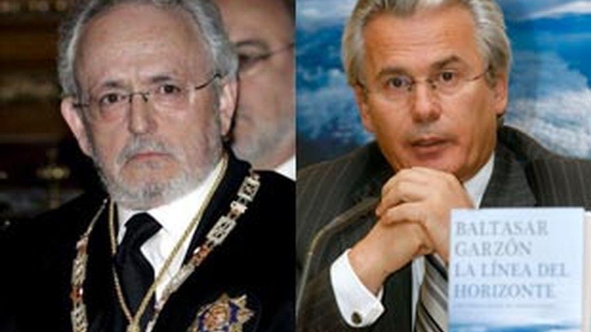 El magistrado del Supremo, Luciano Varela, y el juez de la Audiencia, Baltasar Garzón.