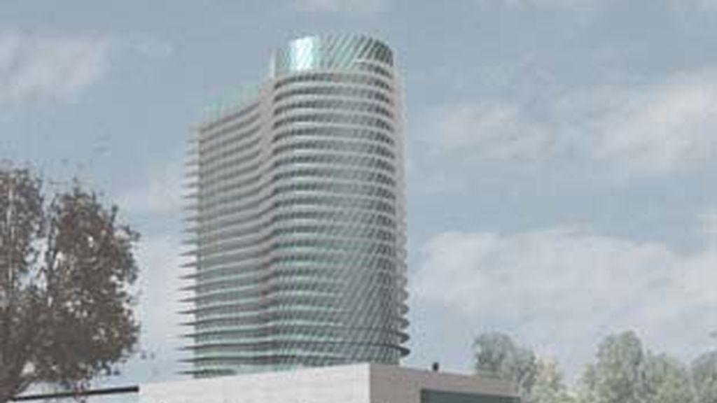 Imagen de la Torre del Agua, edificio emblemático, de la Expo Zaragoza.